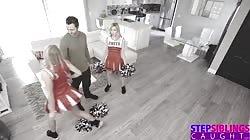 Cheerleading StepSis And BFF Make Me Cum On Their Pom Poms S10:E9