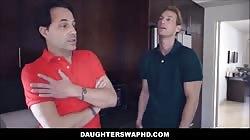 Two Dad's Swap Hot Teen Daughters